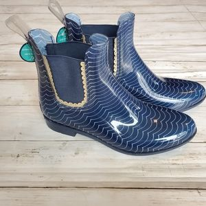 Nwt jack rogers Sallie blue rain boot arch support